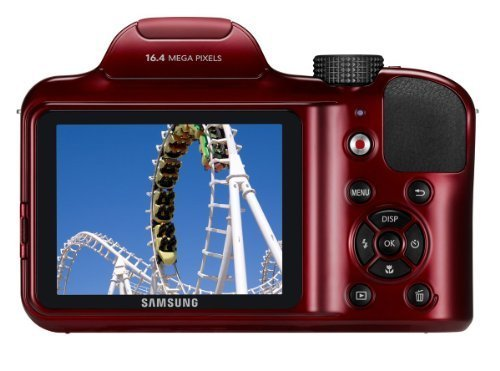 Best Review Of Samsung WB1100F 16.2MP CCD Smart WiFi & NFC Digital Camera with 35x Optical Zoom, 3.0″ LCD and 720p HD Video (Red) (Certified Refurbished)