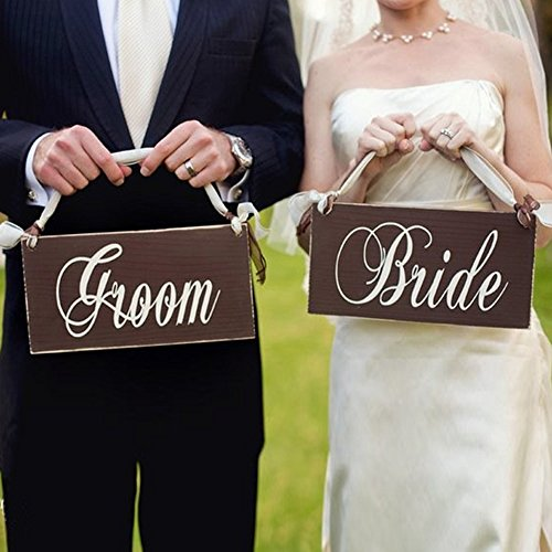 2B-better Bride & Groom Chair Bunting Banner Garland Wedding Decoration Wedding Photo Booth Props Hanging Letter Wooden Signs