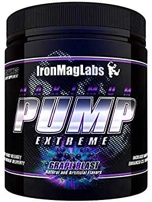 Iron Mag Labs MAXIMUM PUMP Extreme, Grape Blast, 30serv. The Most Complete Pre-Workout Drink on the Market!