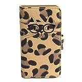 anello アネロ ZU-M0205-LEO おすましメガネ猫 ジョセフィーヌ iPhone6・6s専用 手帳型ケース スマートフォン スマホケース アイフォンカバー [並行輸入品]