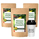 【International shipping】Natural Healthy Standard ミネラル酵素グリーンスムージー マンゴー味 200g x3set + Original Shaker x1