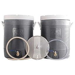 Fermenter\'s Favorites Essential All Grain Brewing Starter Kit - 10 Gallon Mash Tun and Hot Liquor Tank (HLT)
