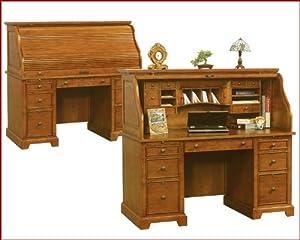 Amazon Winners ly Topaz Roll Top Desk in Cinnamon