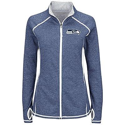 """Seattle Seahawks Women's Majestic NFL """"Club Pass"""" Full Zip Sweatshirt"""