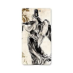 ArtzFolio Tattoo Angel Playing The Violins : OnePlus One Matte Polycarbonate ORIGINAL BRANDED Mobile Cell Phone Protective BACK CASE COVER Protector : BEST DESIGNER Hard Shockproof Scratch-Proof Accessories