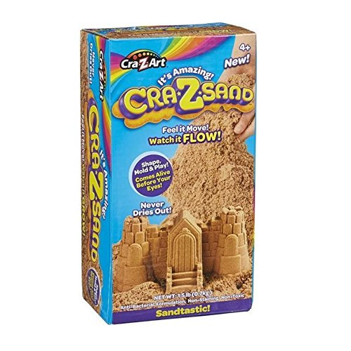 It's Amazing Cra-Z-Sand 1.5 lb Box of Sandtastic Sand, Tan Brown Cra Z Art - 1