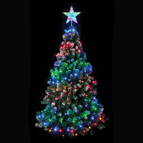 160-multi-coloured-led-chasing-net-light-with-star-for-your-tree-indoor-oudoor