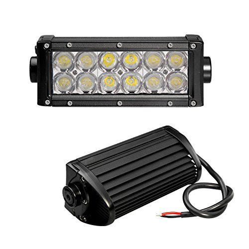 Bonlighting 7.5 Inch 36W 2031Lm Superbright Cree Led Off Road Light Bar Flood Spot Combo Beam - 3W*12Pcs Led For Jeep Cabin/Boat/Suv/Truck/Car/Atv