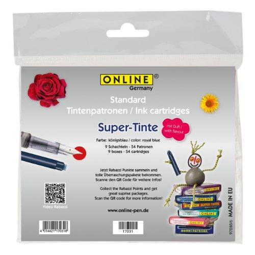 Online 17031 Lot de 9 cartouches d'encre senteur rose Bleu