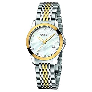 Gucci Women's YA126513 Gucci timeless Steel and PVD Dial Watch