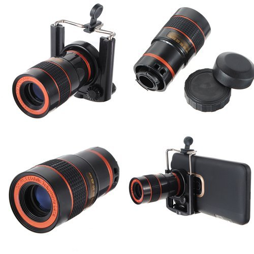 Water & Wood Universal 8X Zoom Optical Lens Telescope For Camera Mobile Cell Phone
