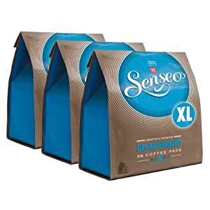 Buy Senseo Decaffeinated, New Design, Pack of 3, 3 x 36 Coffee Pods - Douwe Egberts