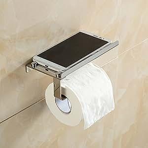 toilettenpapierhalter mit handy ablage wc rollenhalter. Black Bedroom Furniture Sets. Home Design Ideas