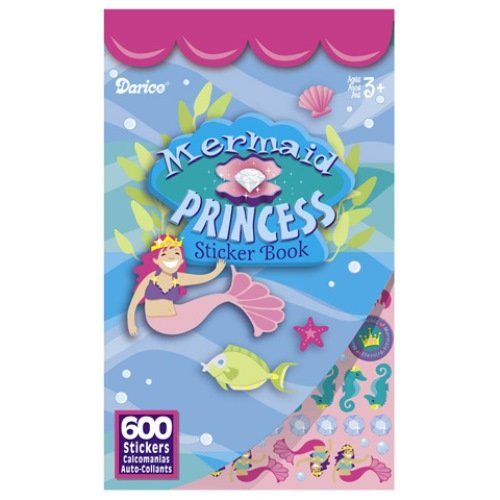 WeGlow International Mermaid Sticker Books, Set of 4