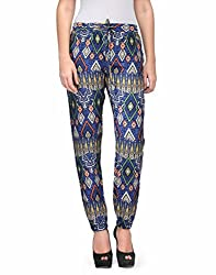 Kiosha Cotton Blue Regular Fit Trousers for Women KTVDA476_BLUE