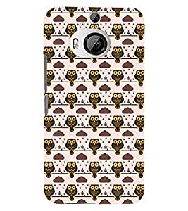 Printvisa Brown Owl Pattern Back Case Cover for HTC One M9+::HTC One M9 Plus