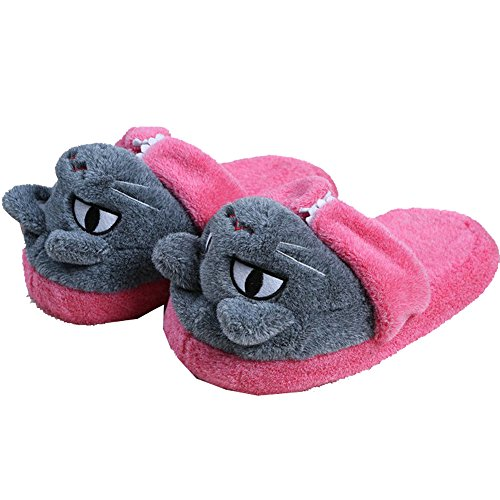Coxeer® Cartoon Characters Floor Cotton Slippers (Black Cat)