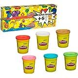 Play-Doh - 230231860 - Loisirs Créatifs - Pâte à Modeler - 6 Pots + 6 Pots Gratuits