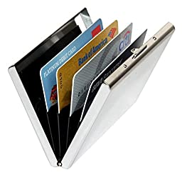 Sayes Brand Unisex Smooth Stainless Steel Mirror Business Card Holder Metal High Capacity Credit Card Holder