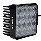 "Kawell® 48w 30 Degree LED Spot Lights 4.3"" Square Tractor Marine Off-road Lighting RV ATV"