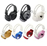 Towallmark 1PC White Portable Foldable Wireless Headphone Headset