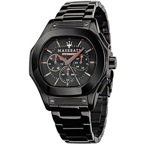 MASERATI FUROICLASSE Collection - R8853116001 - Reloj de caballero analógico (Acero inoxidable, Sumergible, Calendario) Negro