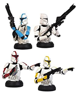 Star Wars: Attack of The Clones Clone Trooper Bust-Ups 4-Pack