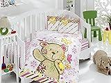 Kupon bebé Juego de funda de edredón (100x 150cm, Multi Color) multicolor rosa Talla:100 x 150 cm