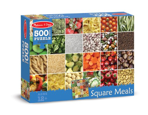 Melissa & Doug Square Meals Cardboard Jigsaw Puzzle, 500-Piece