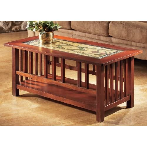 Stained glass top coffee table for Coffee tables amazon