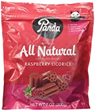 Panda Raspberry Licorice 7oz licorice pieces by Panda