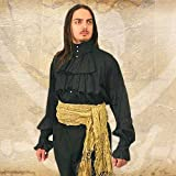 Renaissance Noble's Shirt - BLACK - Medium (Period Clothing)