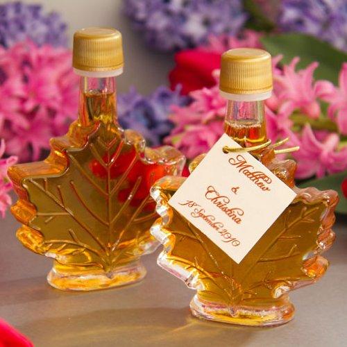 Maple Leaf Syrup Bottles Maple Syrup Favors 50ml Leaf