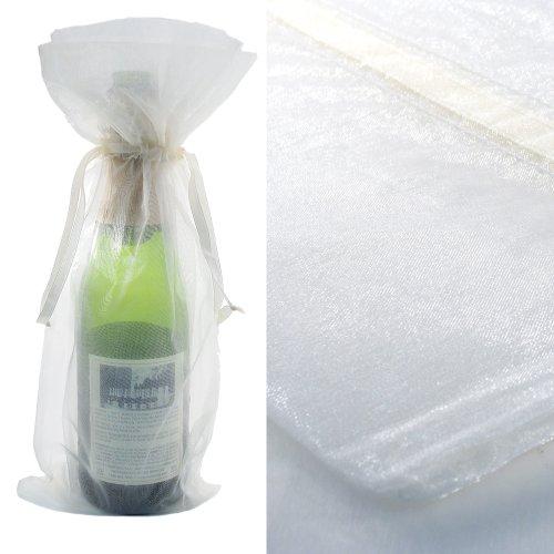 200X White Bottle & Wine Organza Favor Gift Bags 6.5X15 Inch ($0.94 Each)
