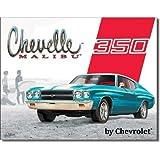 Chevelle Malibu - 350 Metal Tin Sign 16