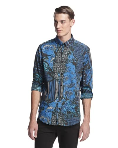 Versace Jeans Men's Patterned Long Sleeve Woven Shirt