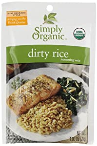Simply Organic Rice Seasoning Mix, Dirty, 1 Ounce (Pack of 12)