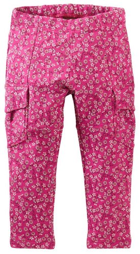 Tea Collection Baby-Girls Infant Printed Skinny French Terry Cargos, Fruit Punch, 12-18 Months