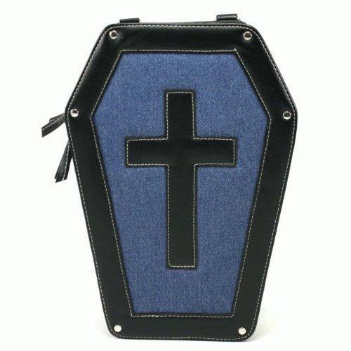 棺桶型 ショルダーバッグ 十字架[CODE:0049616] BLK FREE