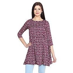 ELI Multicolour Printed Party Wear Casual Western Women Long Top