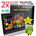 "7"" Android Tablet Notebook PC, Android 4.2, 8GB, Dual Cortex-A9, 1.2GHz, Dual Camera, WiFi, Capacitive Multi-Touch Screen, Very Fast & Slim, Comes Ready To Go With All The Latest Apps, FastTouch(TM)"