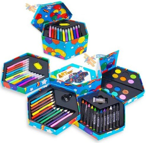 52-pcs-craft-art-artists-paints-pens-pencils-set-great-gift-for-kids