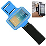 OFTEN Adjustable Armband Running Sports Case Cover Holder Jogging For 4.7 inch Apple iPhone 6 (Blue)
