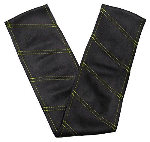 aerzetix couvre volant coudre en cuir v ritable couleur noir surpiq res diagonales vertes. Black Bedroom Furniture Sets. Home Design Ideas