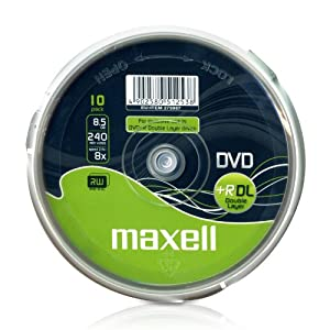 Maxell - 10 x DVD R DL - 8.5 GB 8x - spindle - storage media
