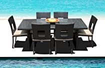 Hot Sale Outdoor Patio Wicker Furniture All Weather Resin New 7-Piece Dining Table & Chair Set