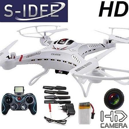 S-idee 01251 S183C Quadrirotor avec caméra HD et système gyroscopique 4,5 canaux 2,4 GHz.