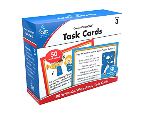 Carson-Dellosa Task Cards Learning Cards Grade 3 (Math Learning Centers compare prices)