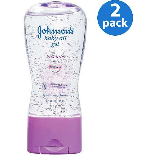 Johnson\'s - Lavender Baby Oil Gel, 6.5 oz, 2-Pac - 1