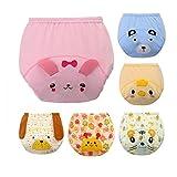 CuteOn 6 Paquete Bebé Niña Chico pipí Orinal Formación Pantalones Pañal Diaper M(80cm)